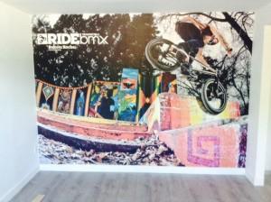 Murale en vinyle texturé